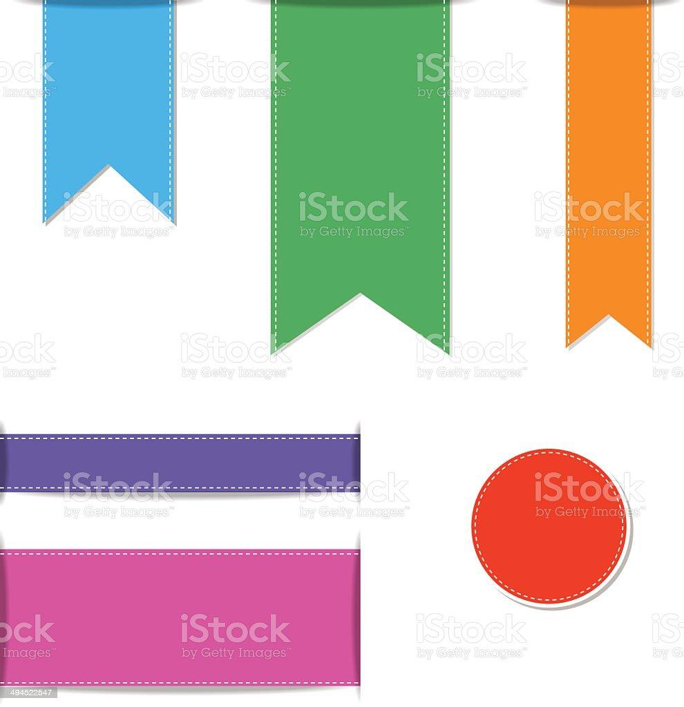 Set of ribbons, vector illustration. vector art illustration