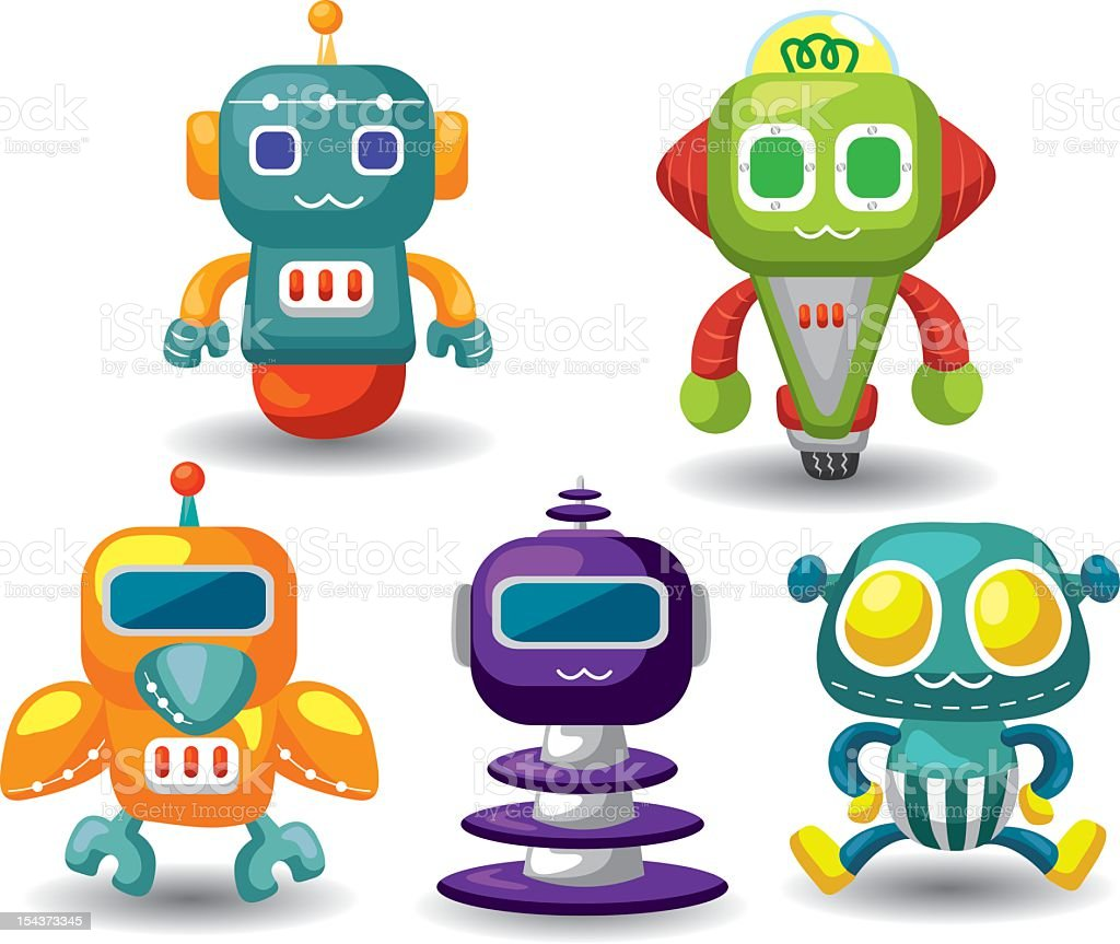 set of robot royalty-free stock vector art