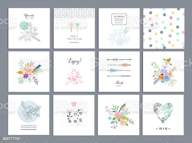 Set of romantic floral cards wedding anniversary birthday vector id503777702?b=1&k=6&m=503777702&s=612x612&h=hjbrvokr icyq q  nyy ndd8p5k dftc09hfcla8fw=