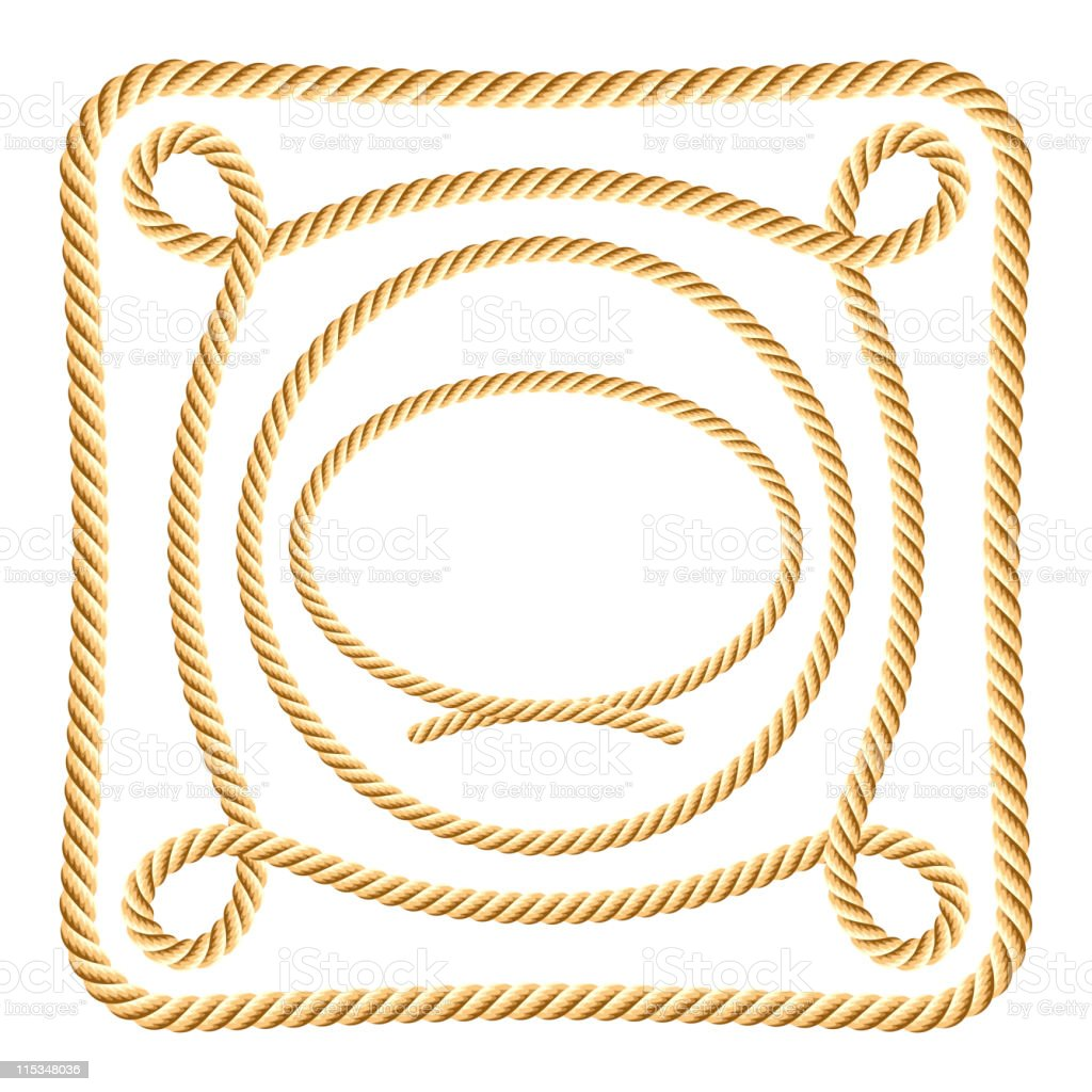 Set of rope elements royalty-free stock vector art