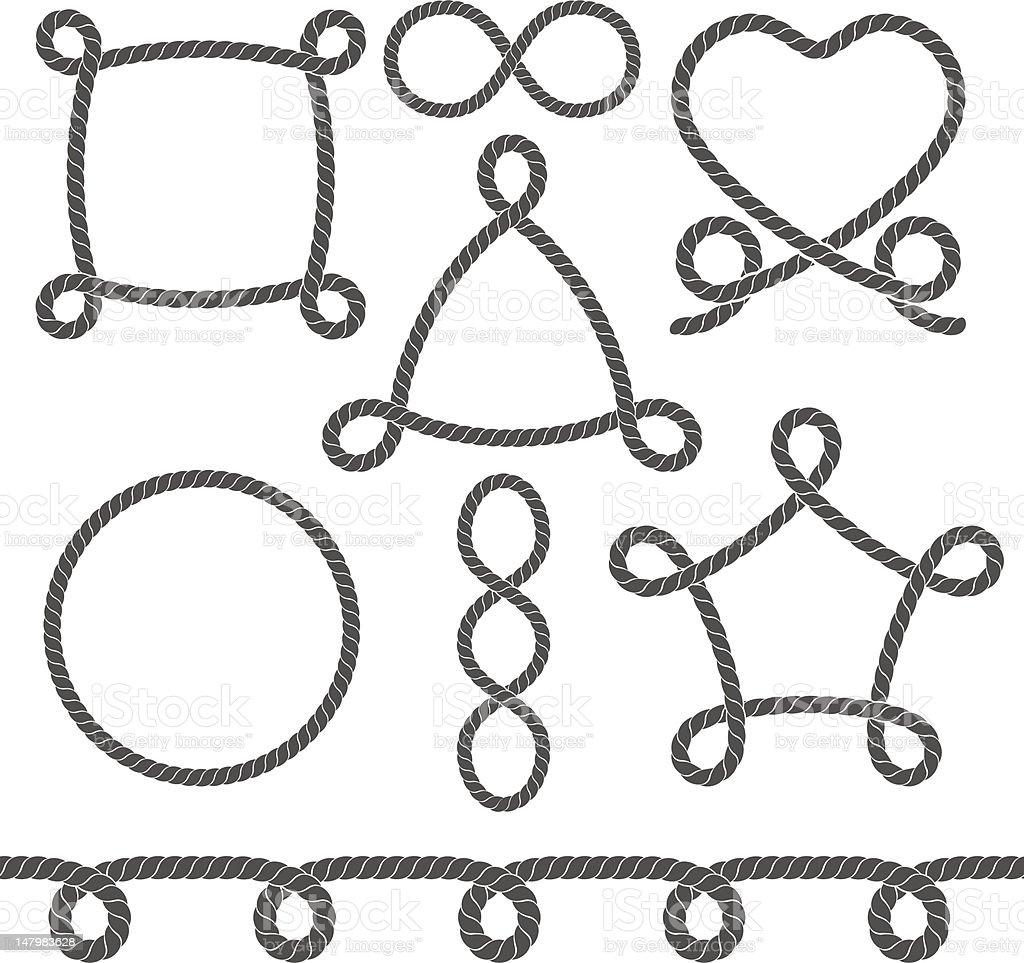 Set of ropes royalty-free stock vector art