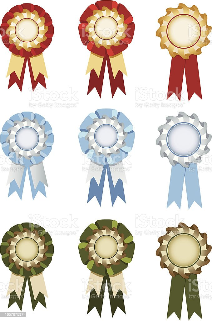 Set of rosettes royalty-free stock vector art