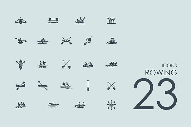 Ein Satz von Rudern Symbole – Vektorgrafik