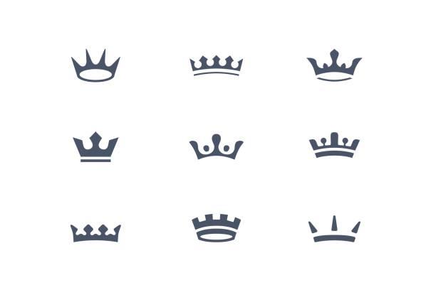 皇家牙冠,圖示集 - 皇冠 頭飾 幅插畫檔、美工圖案、卡通及圖標