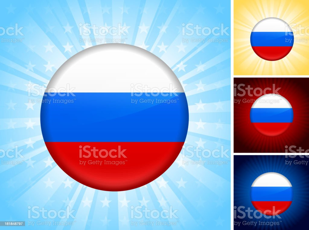 Set of Russian flag computer buttons. royalty-free set of russian flag computer buttons stock vector art & more images of badge