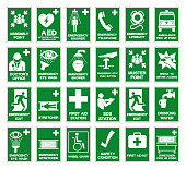 istock Set Of Safety Condition Collection Symbol Sign, Vector Illustration, Isolated On White Background Label .EPS 10 1276788577