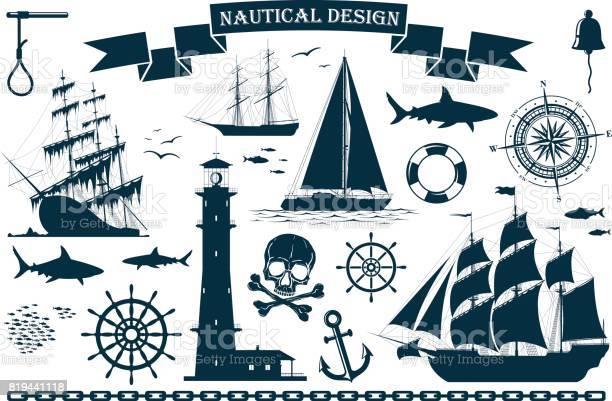 Set of sailing ships with nautical design elements vector id819441118?b=1&k=6&m=819441118&s=612x612&h=wwwu66byblsvpw5bmgw25rlwyx4iz dyla1lokzvwm8=