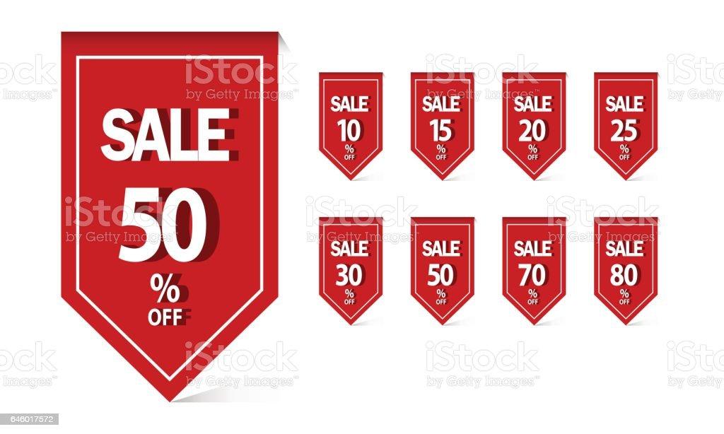 Set Of Sale Banner Template Design Discount Sale 10off 15off 20off ...
