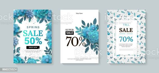 Set of sale banner with paper flowers on a white background vector id866325524?b=1&k=6&m=866325524&s=612x612&h=zppdbhrm4hnase8i iq3 d5hnpijsdta5xtlulubpeo=