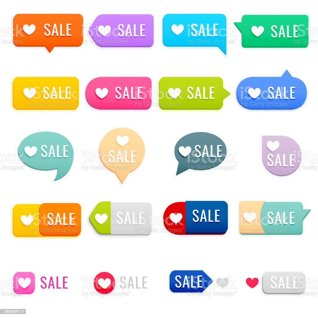 Set of Sale Tags. Sale, Price Tag Icon royalty-free set of sale tags sale price tag icon stock vector art & more images of 'at' symbol