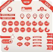 Set of sale tags