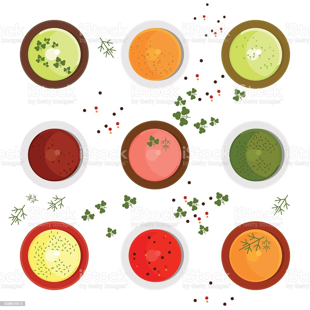 set of sause vector art illustration