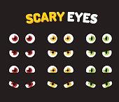 Set of scary eyes
