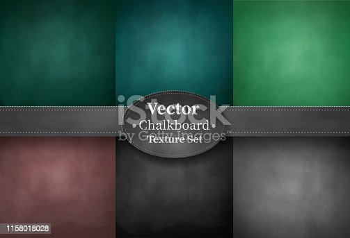 Vector collection of black, brown and green colored school chalkboard backgrounds.