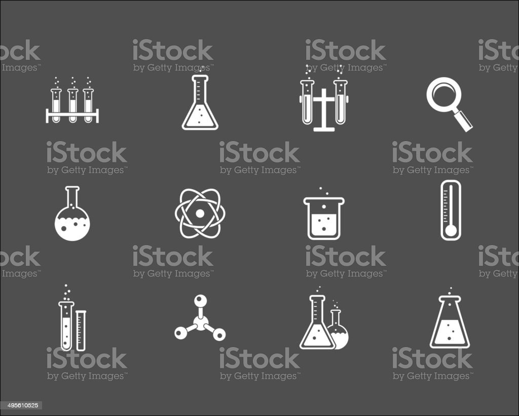 Set of science and research icons royalty-free stock vector art