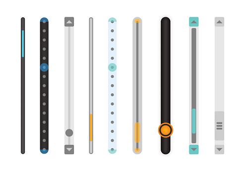 Set of scrollbars set.