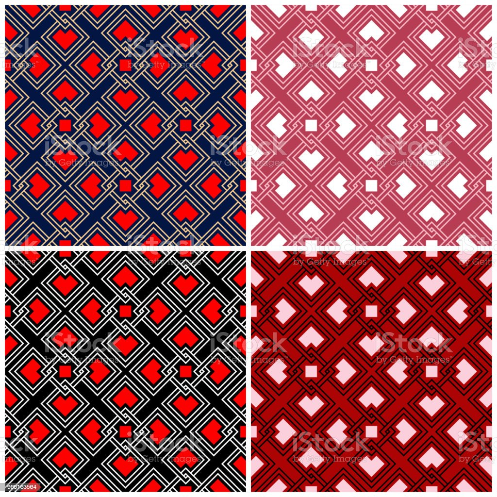Set of seamless backgrounds with geometric patterns - Royalty-free Abstract stock vector