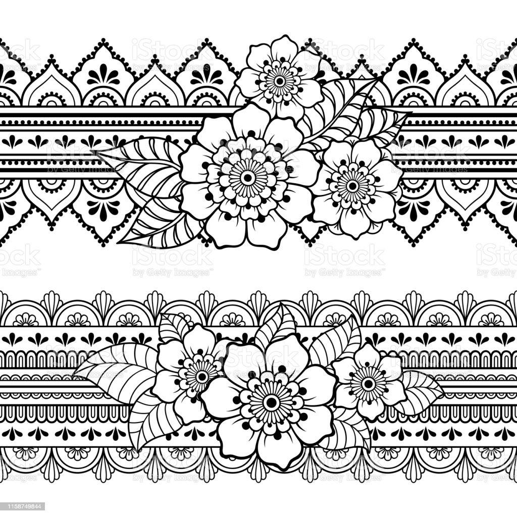 orientalische muster zeichnen  vorlagen zum ausmalen