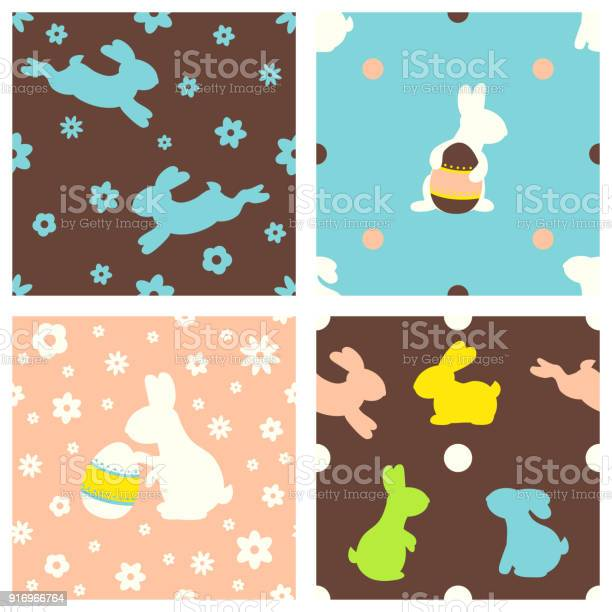 Set of seamless easter backgrounds with cute rabbits vector id916966764?b=1&k=6&m=916966764&s=612x612&h=9ub8hh9wzhd3bhensoy7k59dmv0re fv3s5qnizujba=