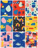 vector, illustration, poster, postcard, pattern