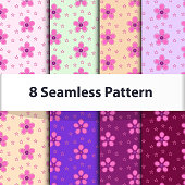 set of seamless patterns collection