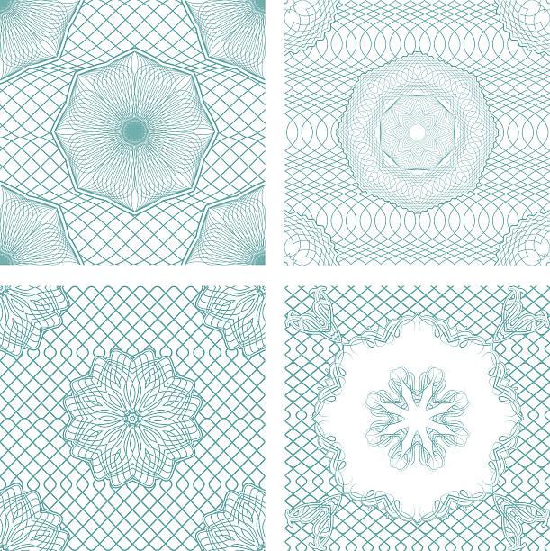 ilustrações de stock, clip art, desenhos animados e ícones de conjunto de padrões de sem costura-elementos ornamentais guilhoché - lian empty