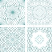 Set of seamless patterns - Guilloche ornamental Elements