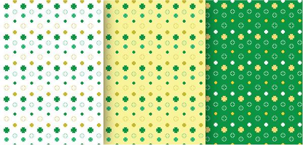 Set of Seamless Patterns St. Patrick's Day