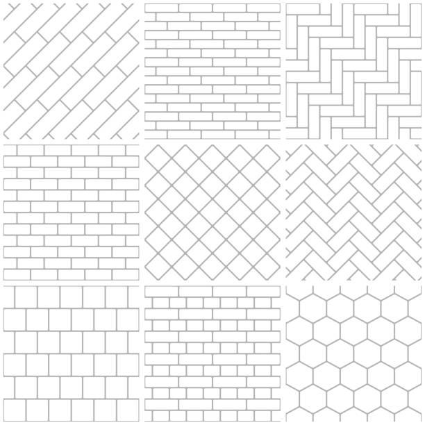 illustrazioni stock, clip art, cartoni animati e icone di tendenza di set of seamless patterns - zigzag