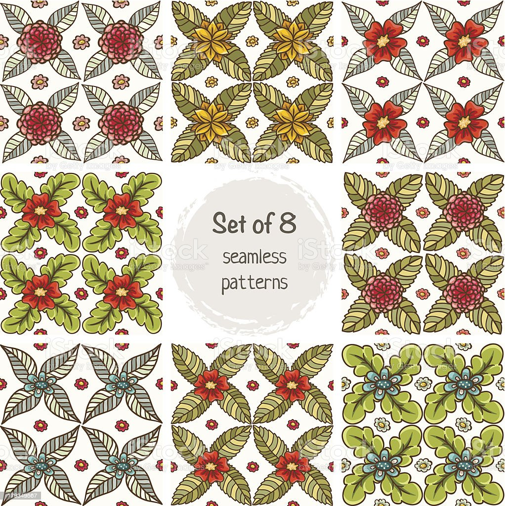 Set of seamless patterns. royalty-free stock vector art