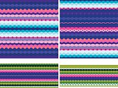 set of seamless geometric patterns; simple vector illustration; eps 8;  zip includes aics2, high res jpg
