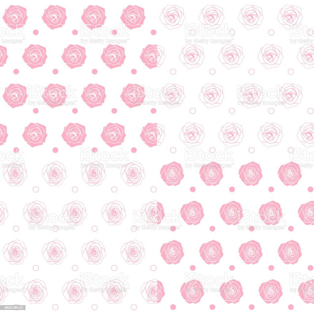Ensemble de modèles transparente avec des roses. Horizons avec des objets vectoriels isolés. - clipart vectoriel de Affectueux libre de droits