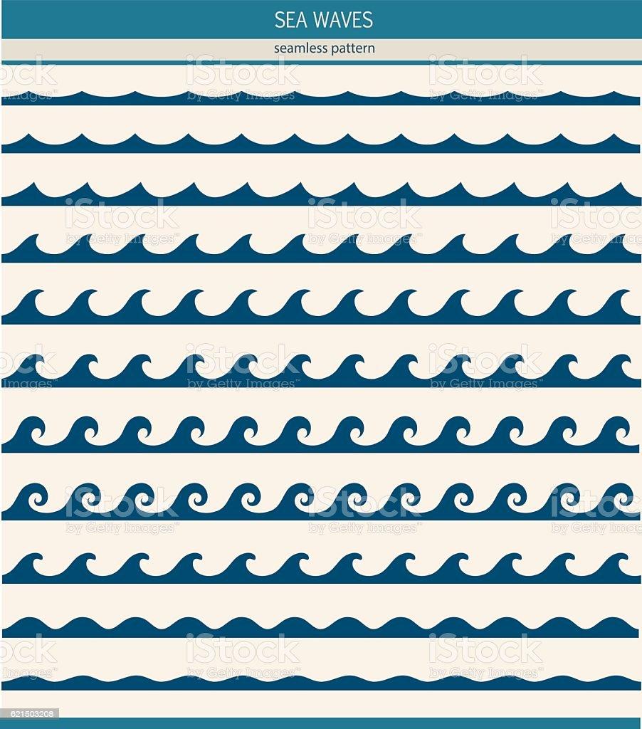 Set di seamless pattern con onde stilizzate set di seamless pattern con onde stilizzate - immagini vettoriali stock e altre immagini di arte, cultura e spettacolo royalty-free