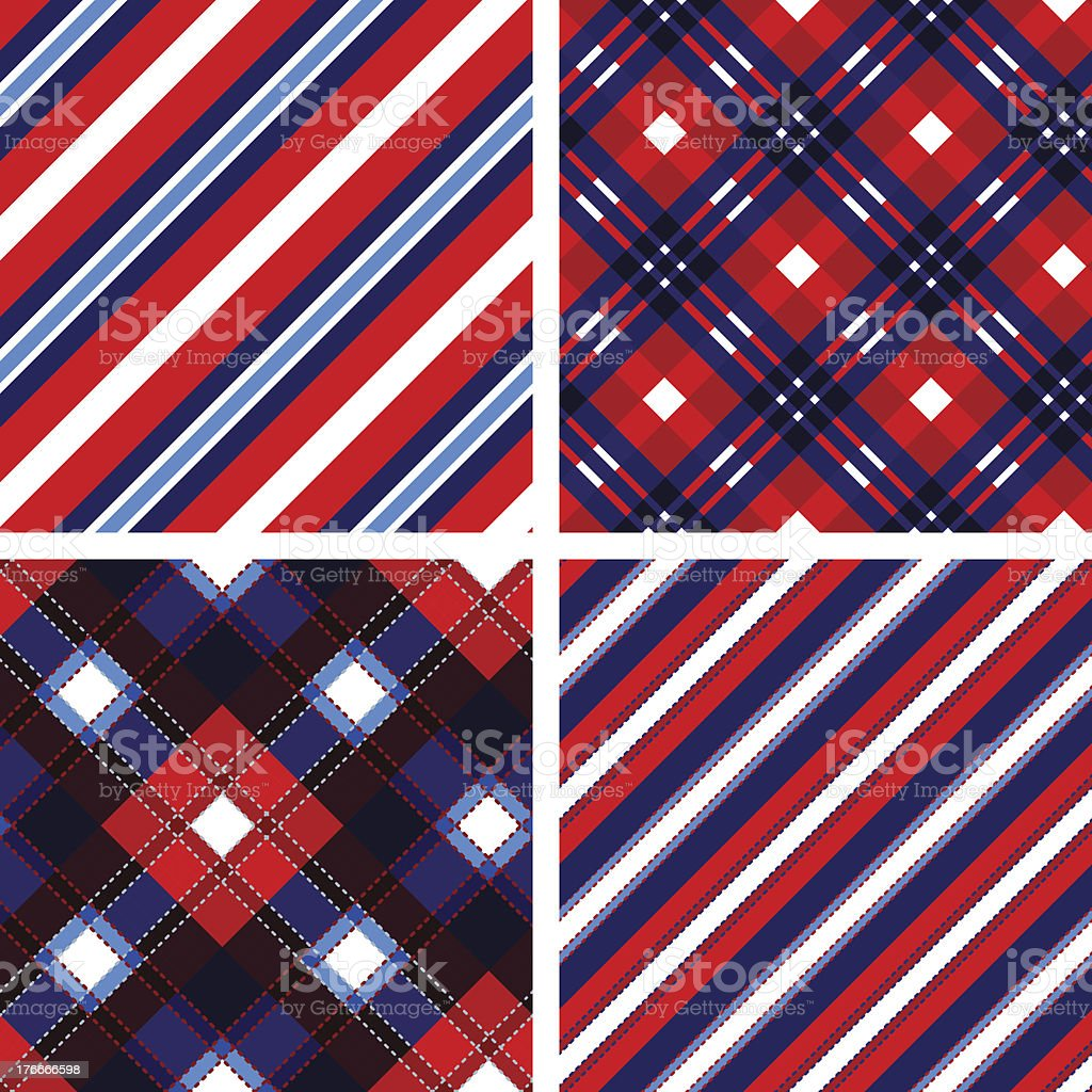 Set of seamless tartan and striped patterns in classic style. royalty-free set of seamless tartan and striped patterns in classic style stock vector art & more images of abstract