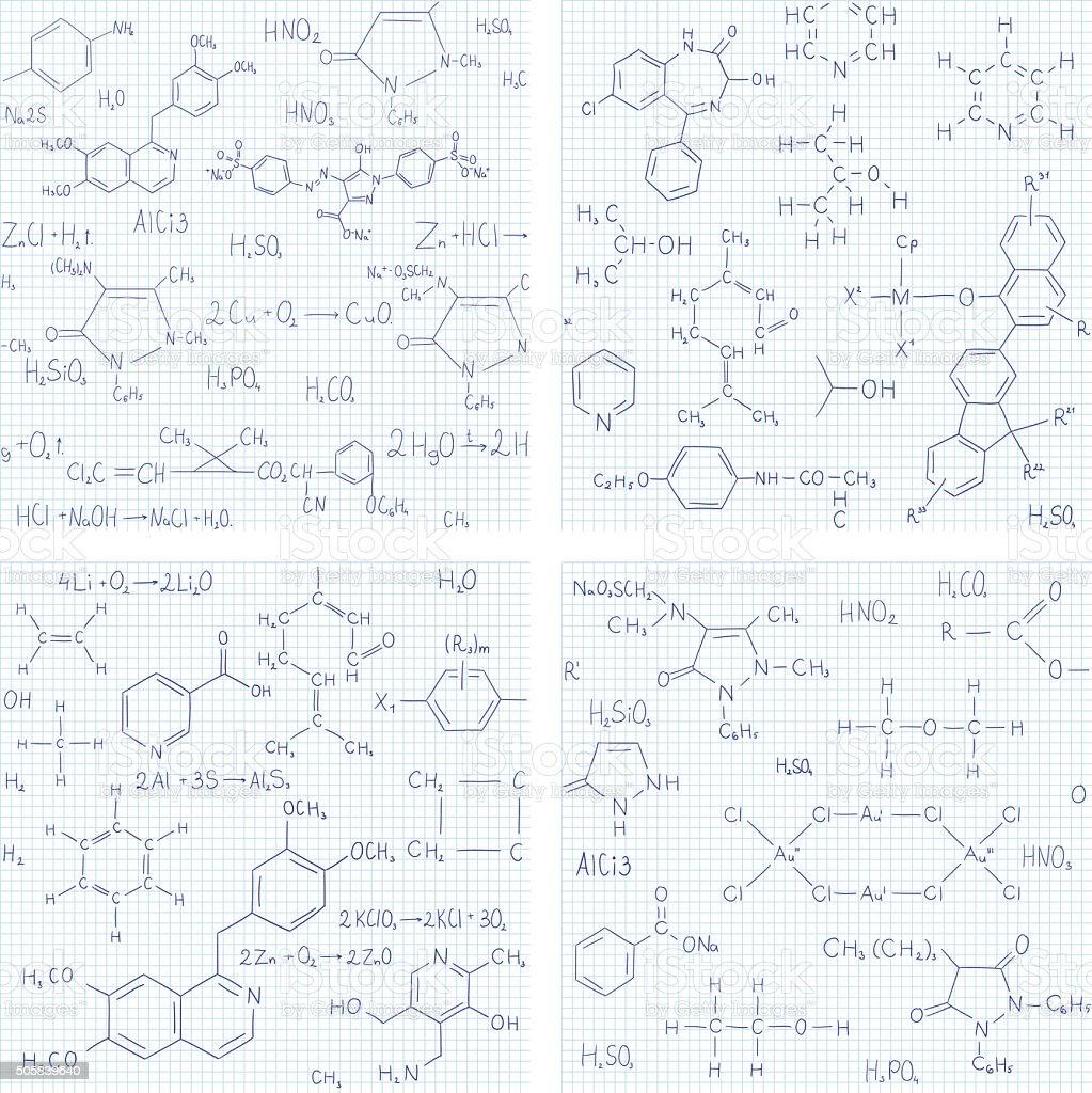 Set di sfondi senza soluzione di continuit vettoriale con for Sfondi chimica