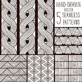 Set of seamless vector patterns.