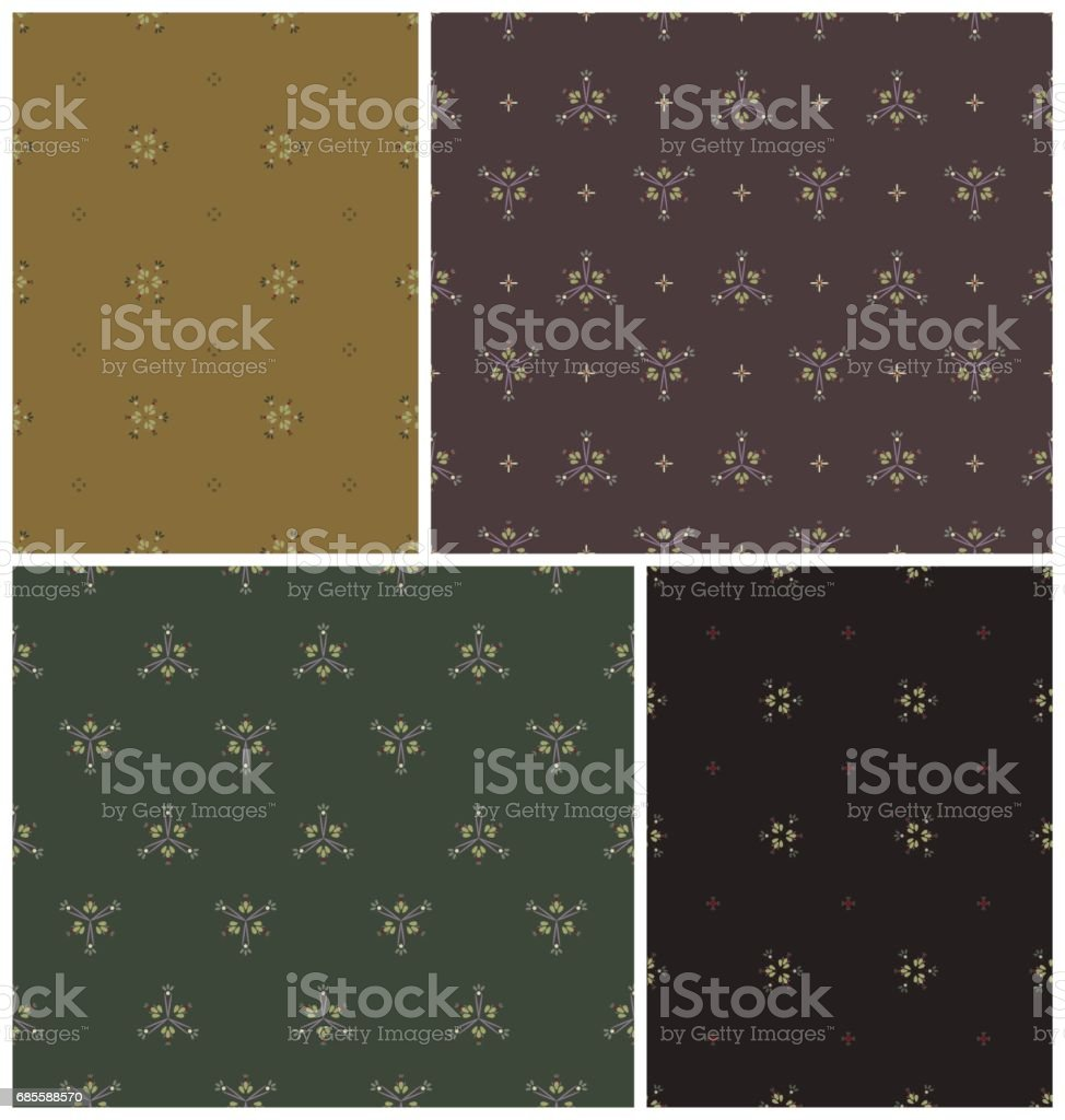 set of seamless vintage patterns royalty-free set of seamless vintage patterns 0명에 대한 스톡 벡터 아트 및 기타 이미지