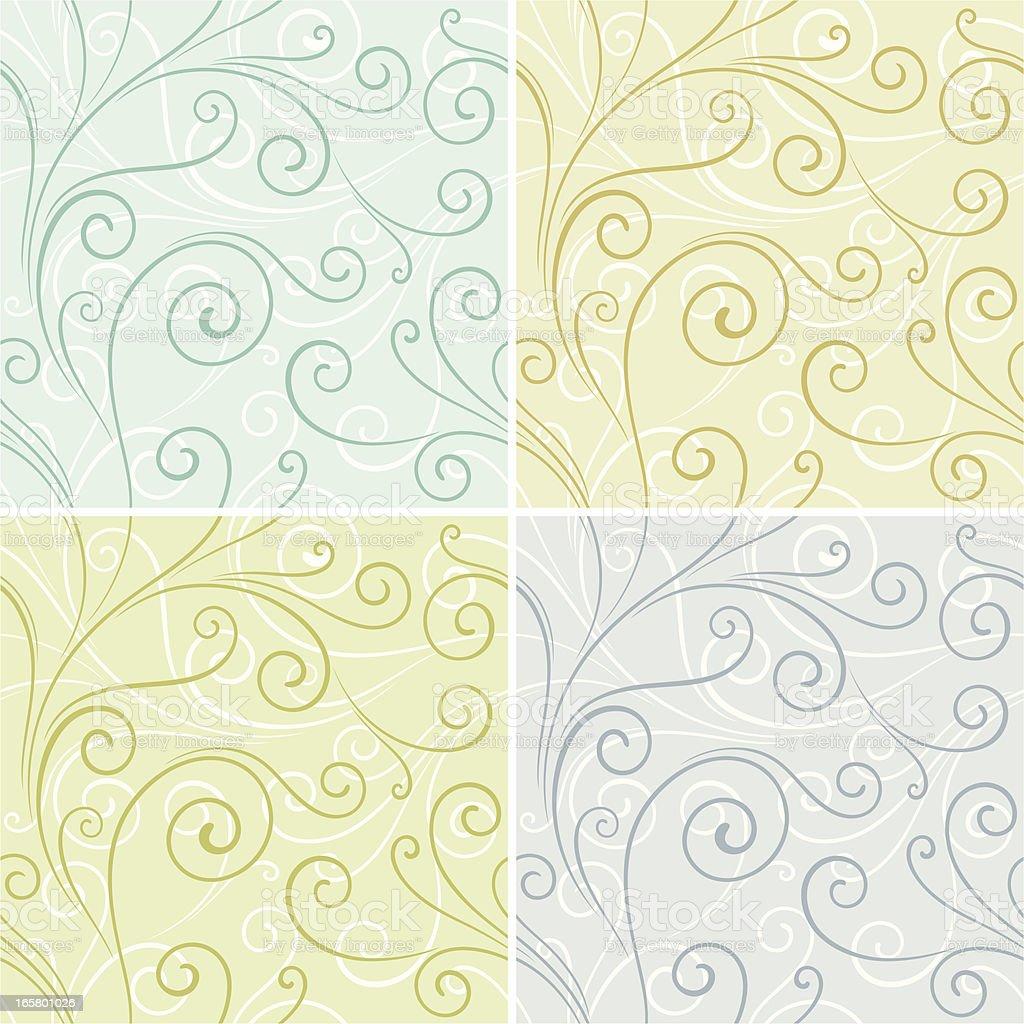 Set of Seamless Wallpaper Patterns royalty-free stock vector art