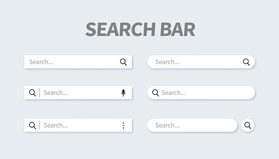 Set Of Search Bar With Falling Shadow - Stockowe grafiki wektorowe i więcej obrazów Aplikacja mobilna