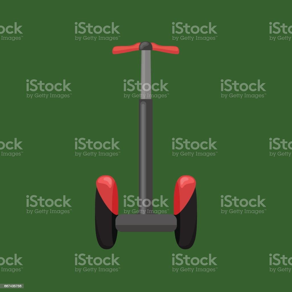 Set of self-balancing electric scooters isolated on white. Vector illustration, flat style vector art illustration