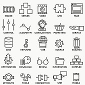Set of seo and internet service icons - part 3