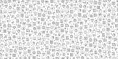 Set of SEO and Web Optimization Icons Vector Pattern Design