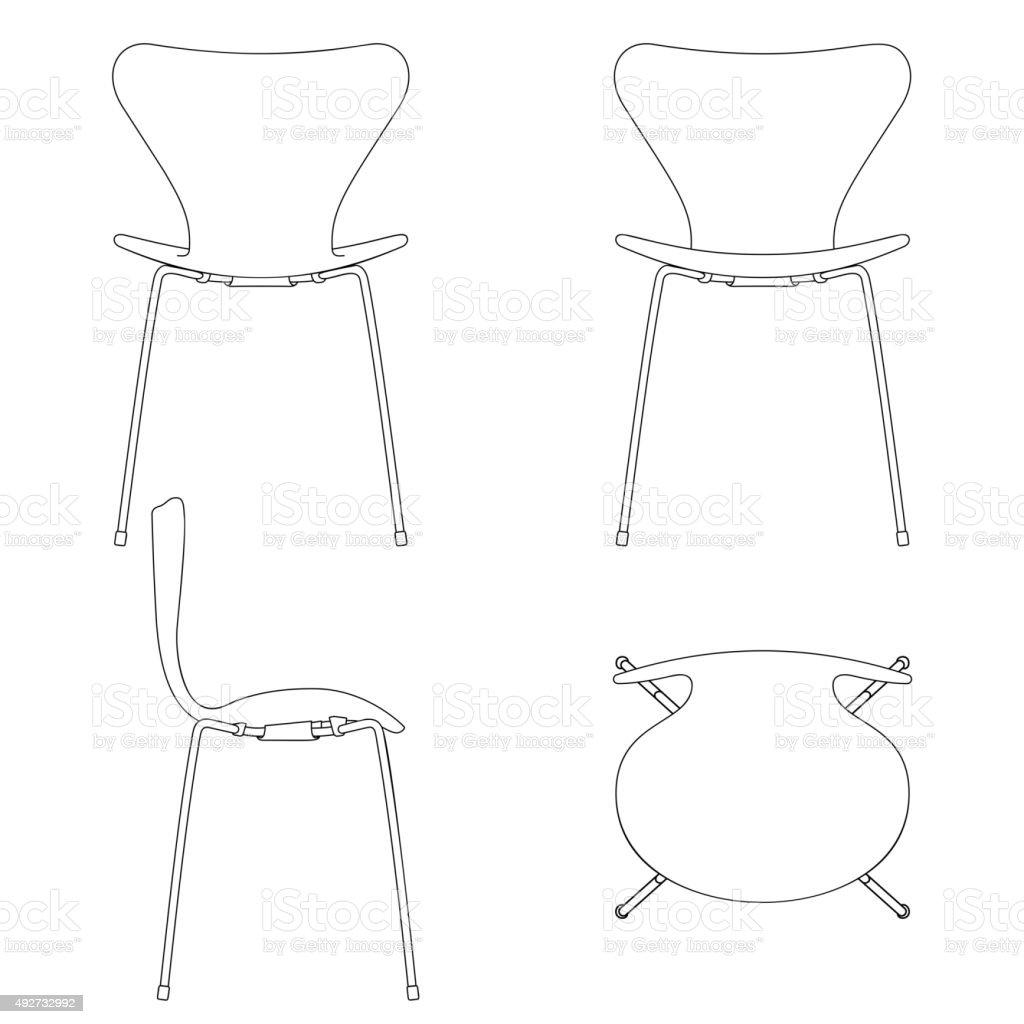 Set of shape outline silhouettes. Modern designs. High detail. Vector vector art illustration