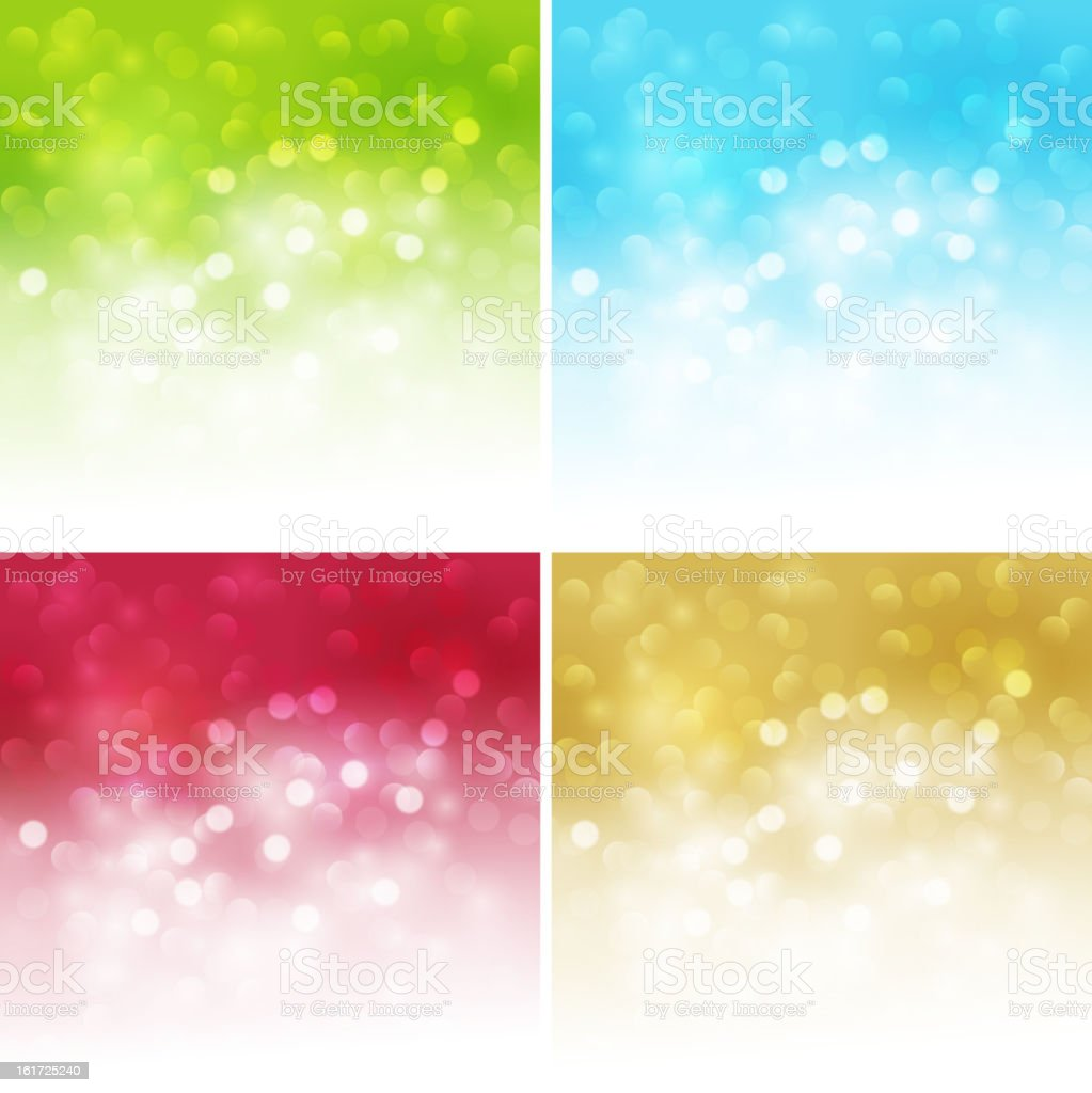 Set of shiny abstract background royalty-free stock vector art