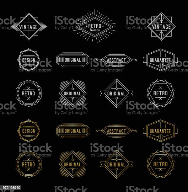Set of shiny gold and white geometric vintage labels with the place vector id975403940?b=1&k=6&m=975403940&s=612x612&h=c 5xpx3jjamvs5aqkbxvqxccxyvpwloocjsjtvgibgs=