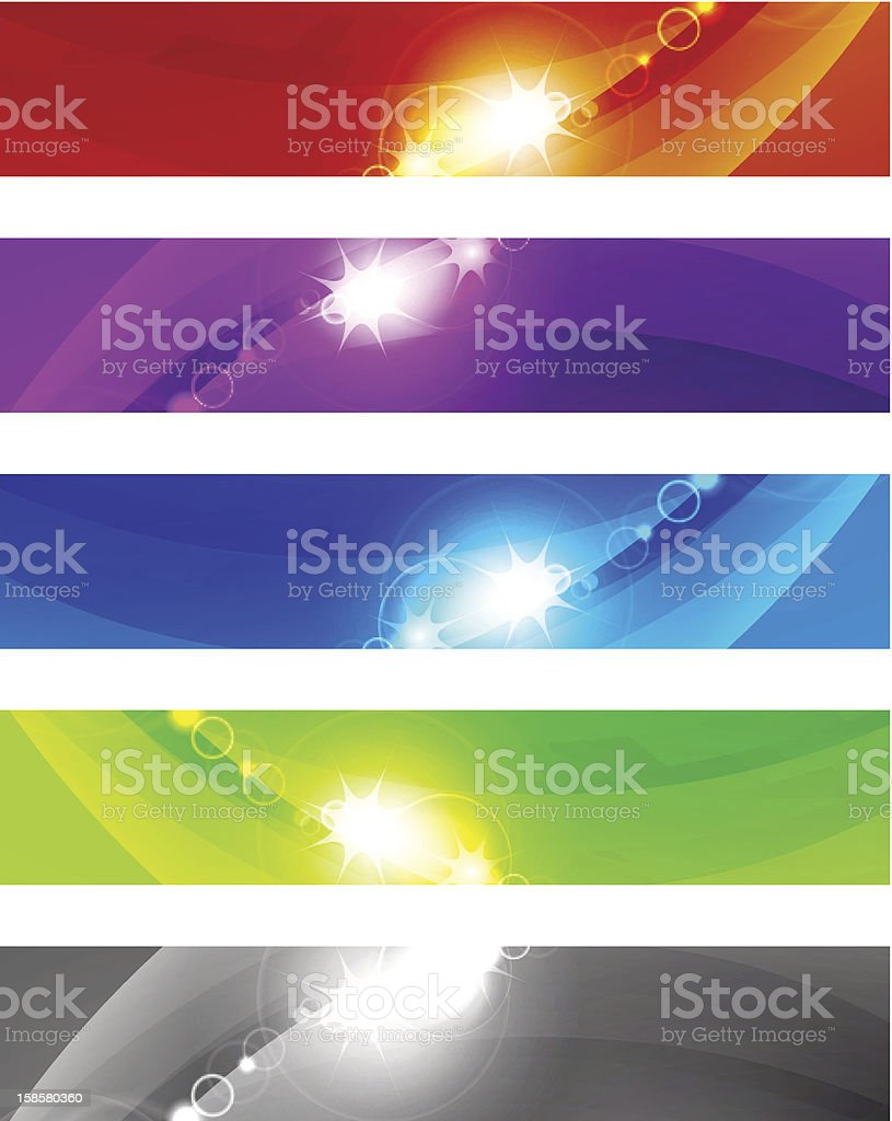 Set of shiny vector banners royalty-free stock vector art