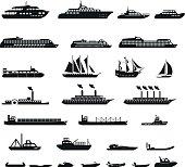 Set of ships