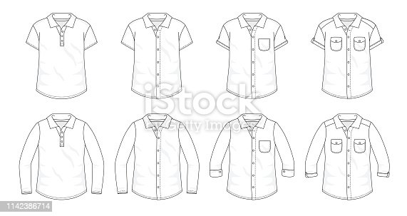 Fill in the fashion clothing template with colours, patterns or images.