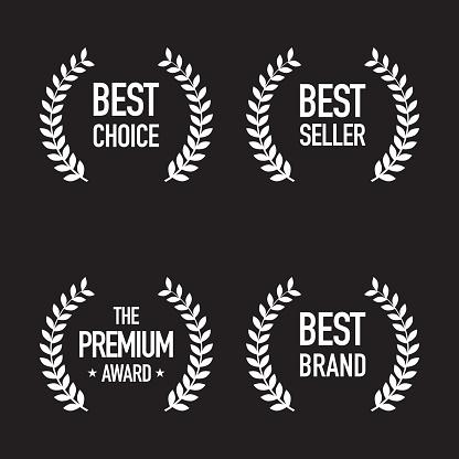 Set of Shopping Badges