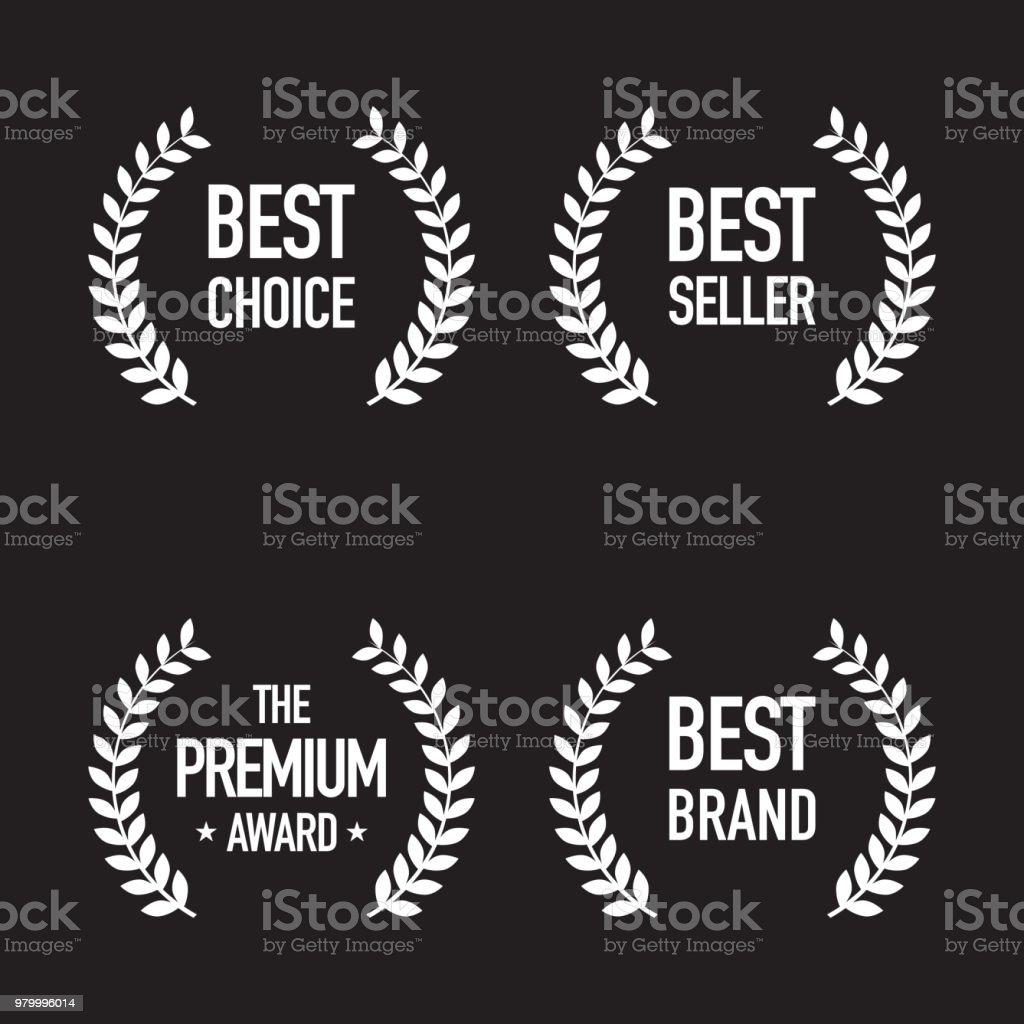 Eingestellt von Shopping Abzeichen – Vektorgrafik
